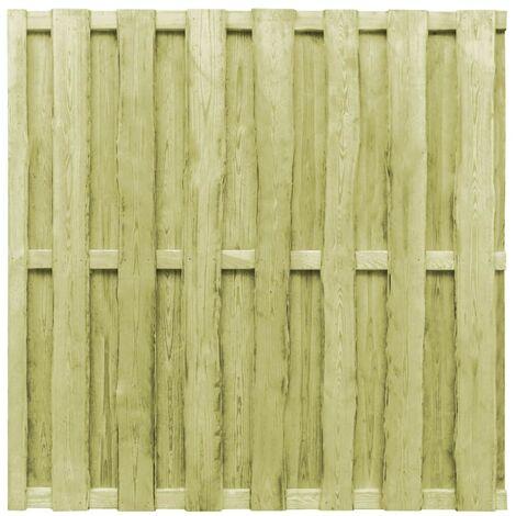 Hommoo Panel de valla de jardín madera de pino verde 180x180 cm