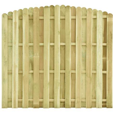 Hommoo Panel de valla madera de pino impregnada 180x(155-170) cm