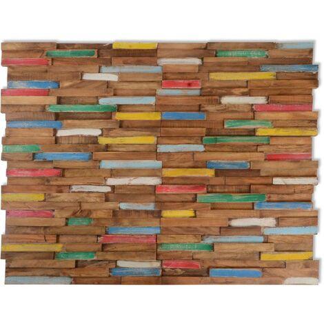 Hommoo Paneles de revestimiento de pared 10 uds 1 m2 de teca