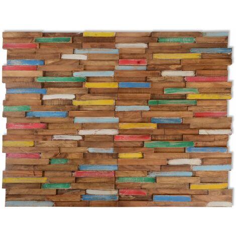 Hommoo Paneles de revestimiento de pared 10 uds 1 m2 de teca HAXD10615
