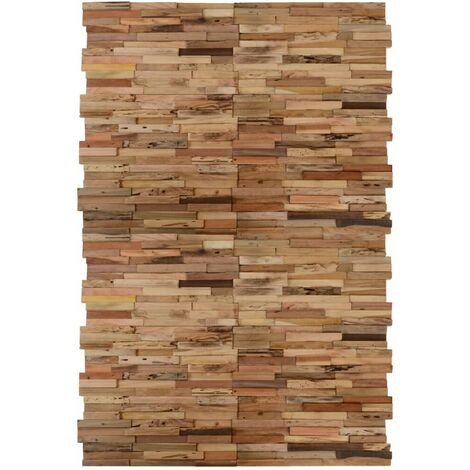 Hommoo Paneles de revestimiento de pared 20 uds teca reciclada 2 m2