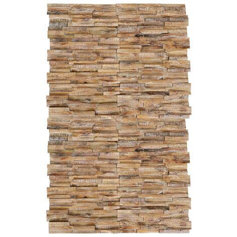 Hommoo Paneles de revestimiento de pared 3D 20 uds teca maciza 2 m2