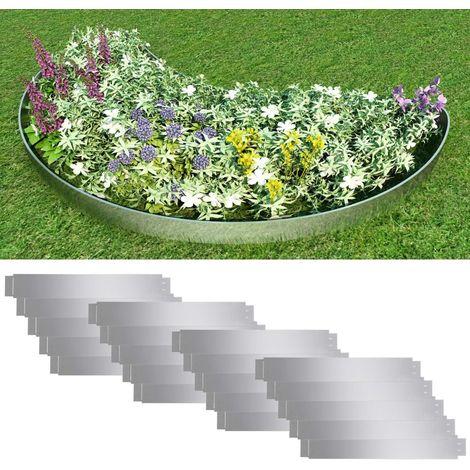 Hommoo Paneles divisorios flexibles acero 10 uds galvanizado 100x15 cm