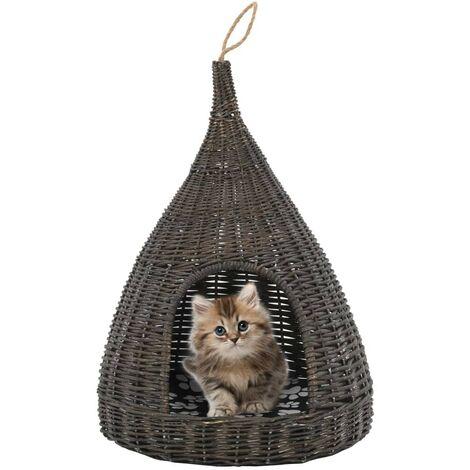 Hommoo Panier pour chats avec coussin Gris 40x60 cm Saule Hommool HDV07318