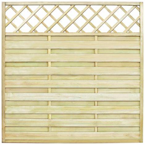Hommoo Panneau de clôture de jardin avec treillis Bois FSC 180x180 cm