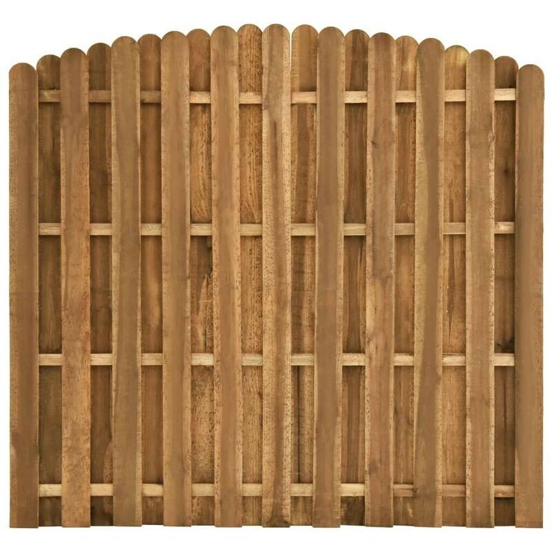 Hommoo Panneau de clôture Pinède 180x(155-170) cm HDV46824