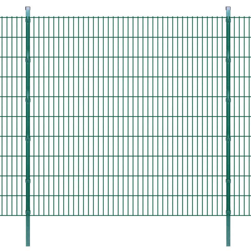 Panneaux et poteaux de clôture 2D pour jardin 2008x2030 mm 10 m HDV16351 - Hommoo