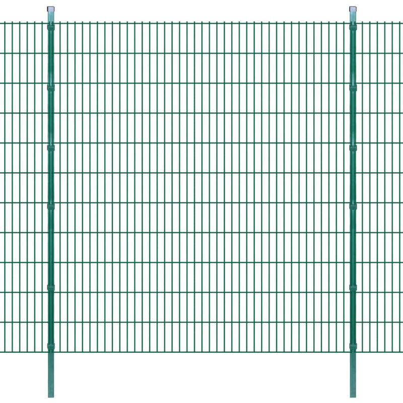 Panneaux et poteaux de clôture 2D pour jardin 2008x2230 mm 10 m HDV16426 - Hommoo