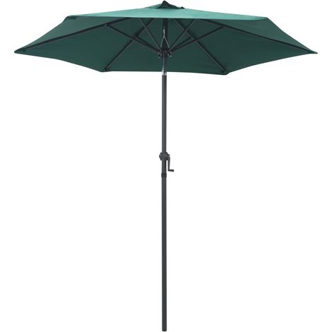 Hommoo Parasol Green 200x211 cm Aluminium