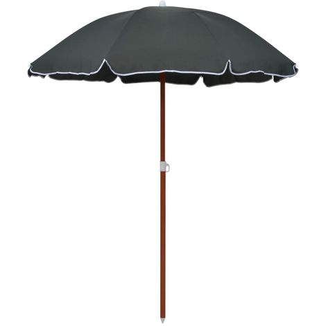 Hommoo Parasol with Steel Pole 180 cm Anthracite