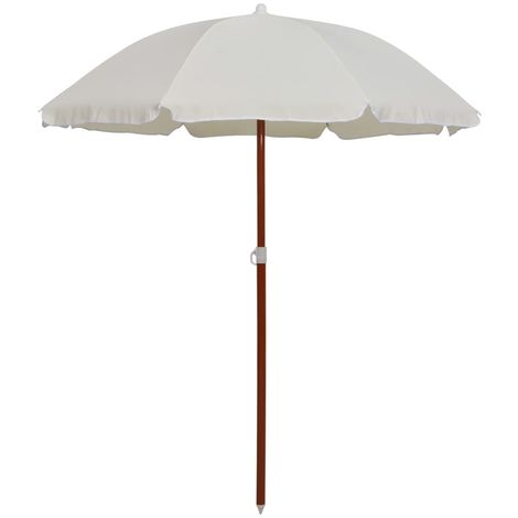 Hommoo Parasol with Steel Pole 180 cm Sand