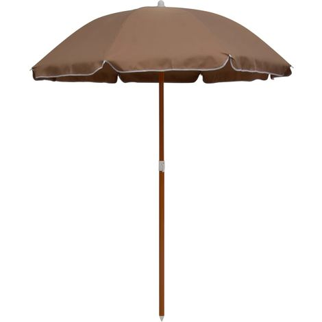 Hommoo Parasol with Steel Pole 180 cm Taupe