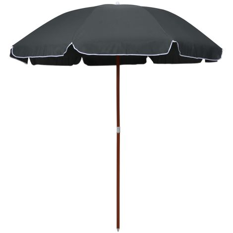 Hommoo Parasol with Steel Pole 240 cm Anthracite