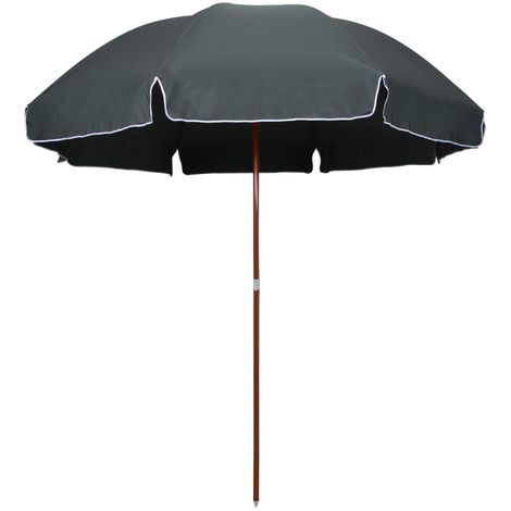 Hommoo Parasol with Steel Pole 300 cm Anthracite