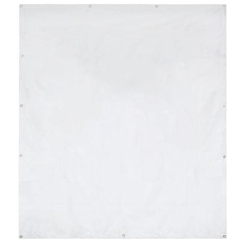 Hommoo Pared lateral de carpa de jardín PVC 2x2 m blanco 550 g/m?