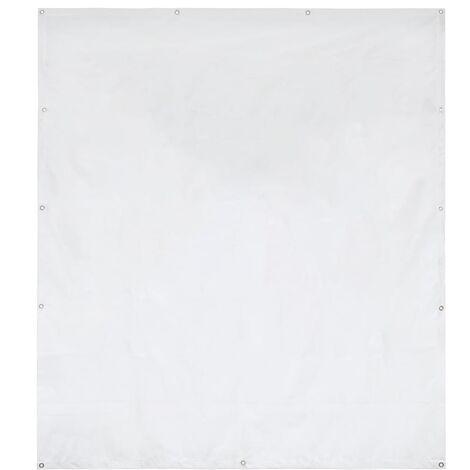 Hommoo Pared lateral de carpa de jardín PVC 2x2 m blanco 550 g/m2 HAXD29538