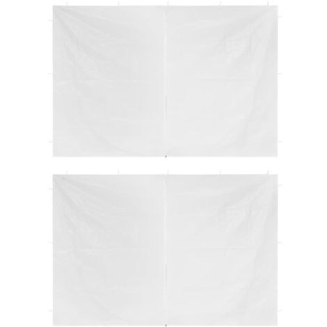 Hommoo Party Tent Doors 2 pcs with Zipper White VD29281