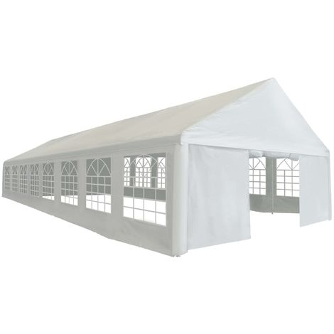 Hommoo Party Tent PE 6x16 m White VD39113