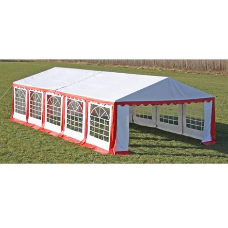 Hommoo Partyzelt 10 x 5 m Rot