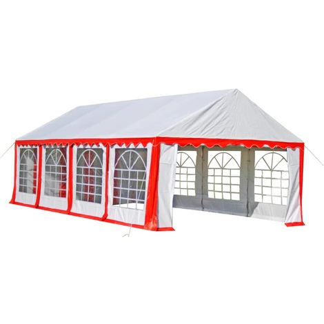 Hommoo Partyzelt 8 x 4 m Rot