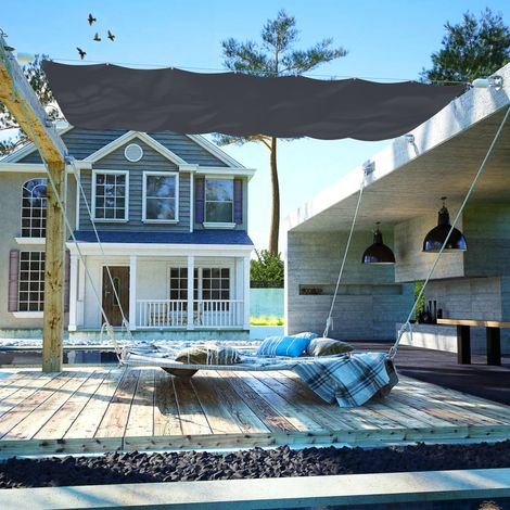 Hommoo Patio Awning Oxford Fabric 140x420 cm Grey