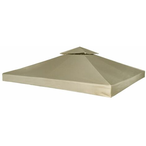 Hommoo Pavillon Abdeckung Ersatzdach 310 g/m2 Beige 3x3 m DDH26287