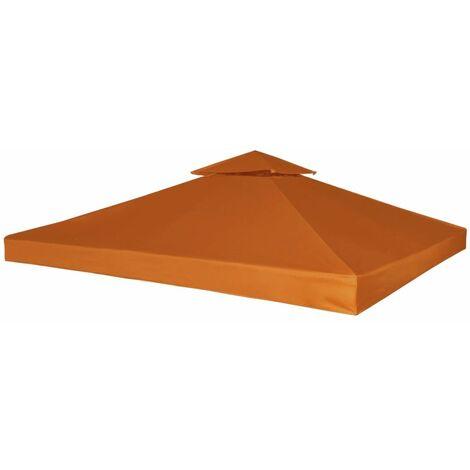 Hommoo Pavillon Abdeckung Ersatzdach 310 g/m2 Terracotta-Rot 3x3 m DDH26289