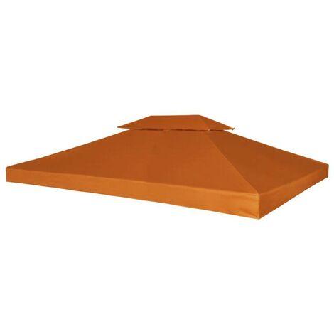 Hommoo Pavillon Abdeckung Ersatzdach 310 g/m2 Terracotta-Rot 3x4 m VD26295