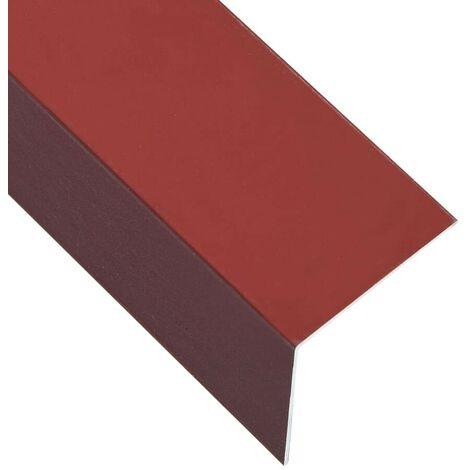 Hommoo Perfiles en forma de L 90¡ã 5 uds aluminio rojo 170 cm 50x50 mm