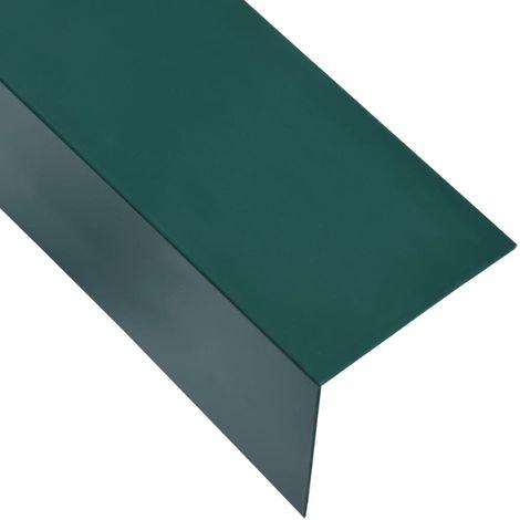 Hommoo Perfiles en forma de L 90¡ã 5 uds aluminio verde 170 cm 60x40 mm