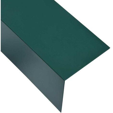 Hommoo Perfiles en forma de L 90¡ã 5 uds aluminio verde 170cm 100x100mm