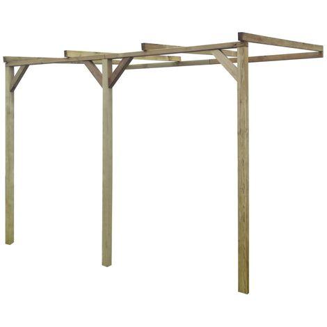 Hommoo Pérgola cobertizo de madera 2x3x2,2 m