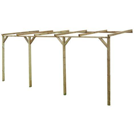 Hommoo Pérgola cobertizo de madera 2x5x2,2 m