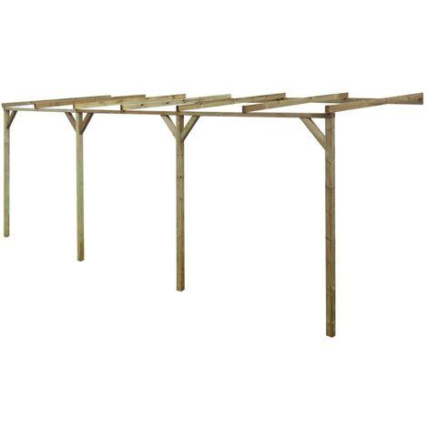 Hommoo Pérgola cobertizo de madera 2x6x2,2 m