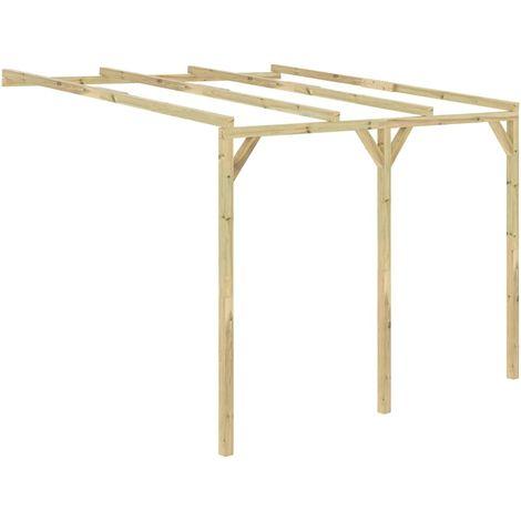 Hommoo Pérgola cobertizo de madera 3x3x2,1 m
