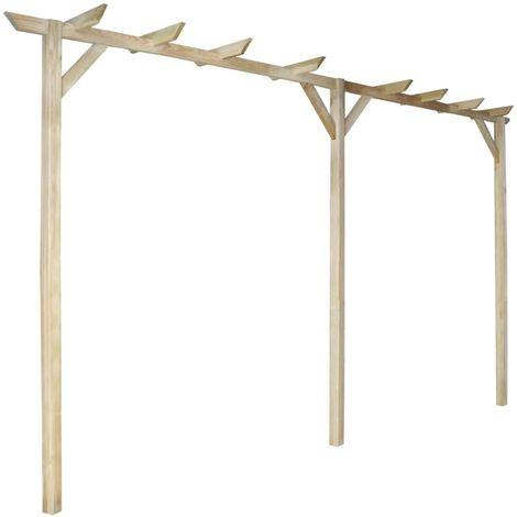 Hommoo Pérgola de jardín de madera 200x40x205 cm