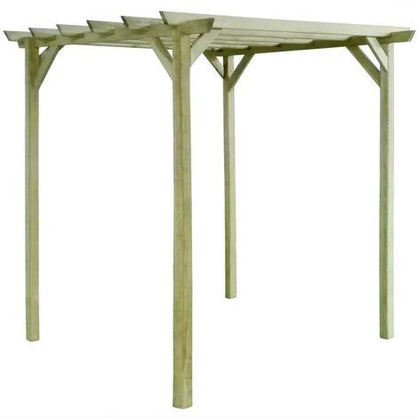 Hommoo Pérgola de jardín de madera de pino impregnada 2x2x2 m
