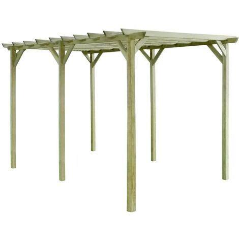 Hommoo Pérgola de jardín de madera de pino impregnada 4x2x2m