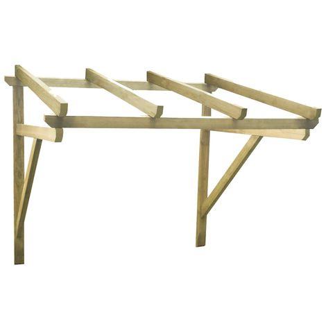 Hommoo Pérgola de puerta de madera maciza de pino 200x150x160 cm