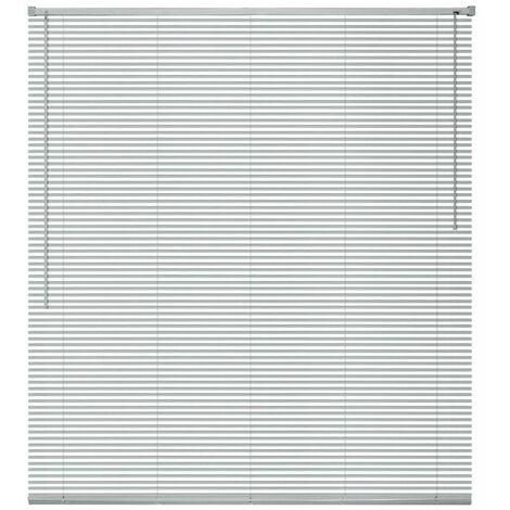 Hommoo Persiana aluminio 120x220 cm plateada