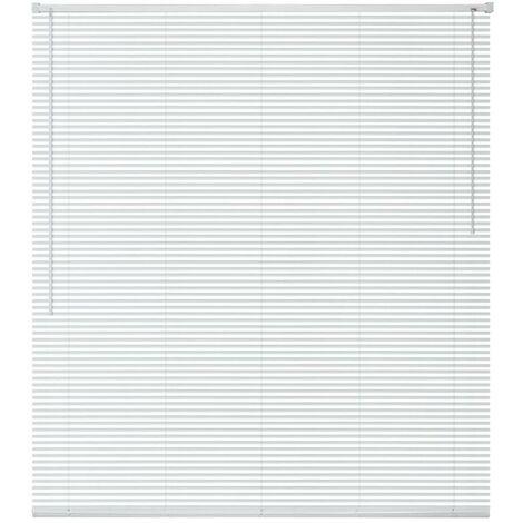 Hommoo Persiana aluminio 60x130 cm blanca