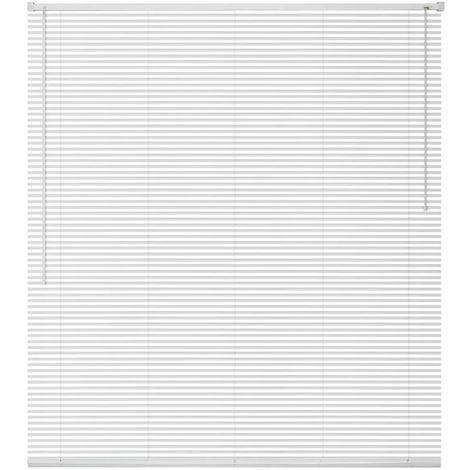 Hommoo Persiana aluminio 60x160 cm blanca
