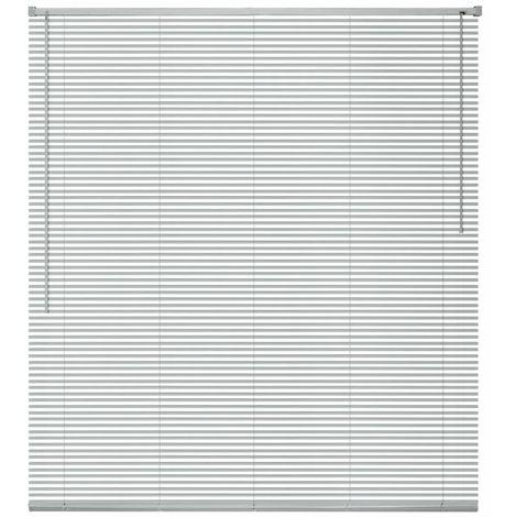 Hommoo Persiana aluminio 80x160 cm plateada