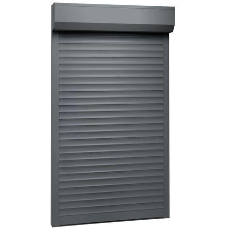 Hommoo Persiana enrollable aluminio gris antracita 110x220 cm