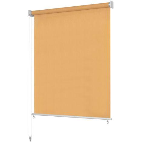 Hommoo Persiana enrollable de exterior 100x230 cm beige