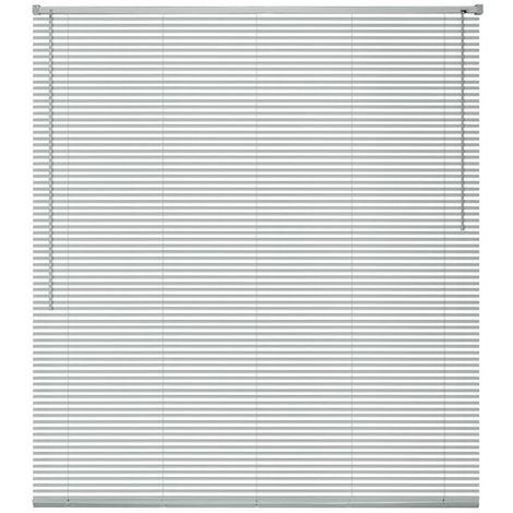 Hommoo Persianas para ventana aluminio 140x130 cm plateada