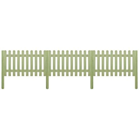 Hommoo Picket Fence FSC Impregnated Pinewood 5.1 m 150 cm 6/9cm VD27906