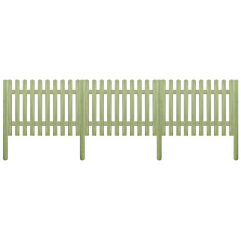 Hommoo Picket Fence FSC Impregnated Pinewood 5.1 m 170 cm 6/9cm VD27907
