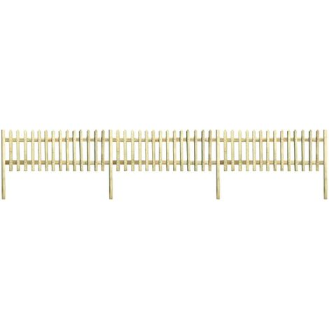 Hommoo Picket Fence Impregnated Pinewood 5.1 m 150 cm 5/7cm VD27717