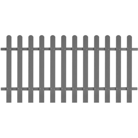 Hommoo Picket Fence WPC 200x100 cm VD27297
